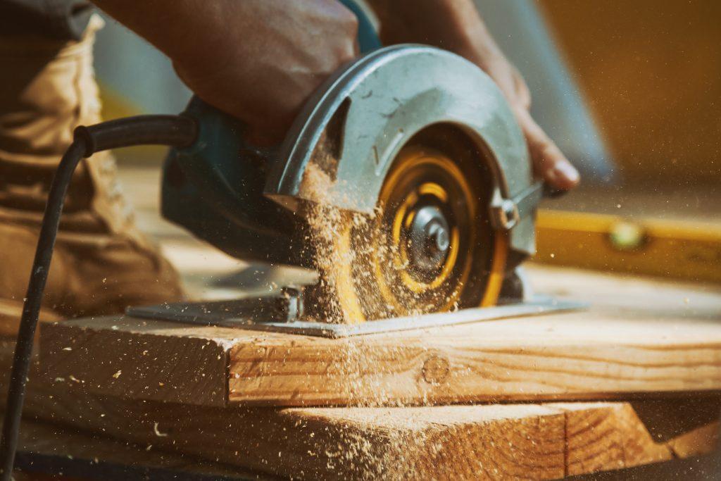 Close-up of a carpenter